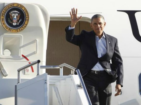 After Midterm Elections, President Obama Leaves for China