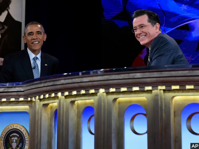 President Obama Takes over 'Colbert Report' for Six-Minute Obamacare Commercial