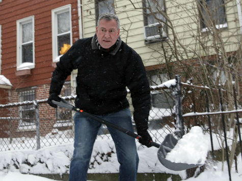 Rich, Snowed In New Yorkers Wonder if 'Crazy' Bill De Blasio 'Getting Back at Us'