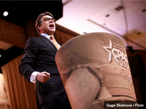 Rick Perry Guns for 2016 with a 'Little Rebellion' That Wowed CPAC