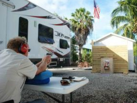 FL Man Puts Gun Range in Backyard, Holds 'Gun Day' Every Wed.