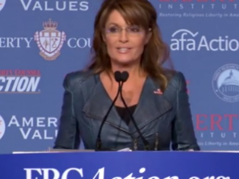 Sarah Palin to Values Voters: Stand Up & Stiffen Your Spine; The Best is Yet to Come