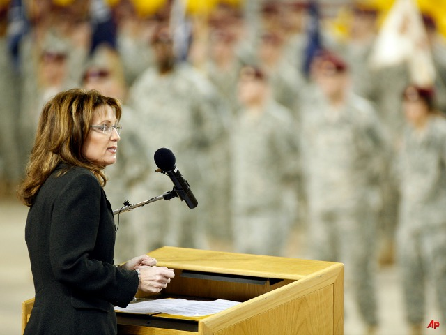 Sarah Palin: Arm Troops on Bases