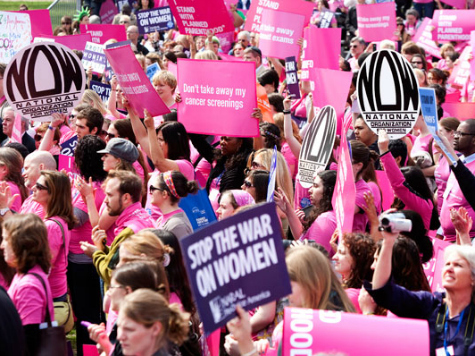 Pro-Abortion Emily's List Raises, Spends Millions on 'War on Women' Ads for Mid-Term Elections