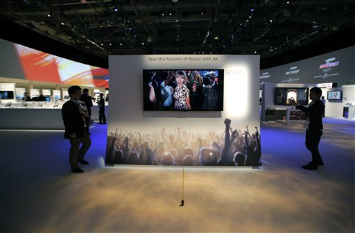 CES Unveils Big TVs with 'Ultrahigh Definition'