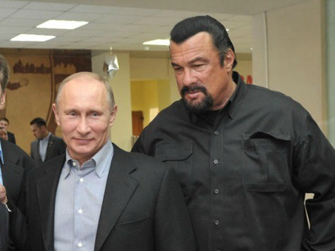 Putin Enlists Chubby Steven Seagal to Promote Soviet-era Fitness Plan