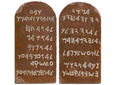 'Ten Commandments' Tablet Props for Sale