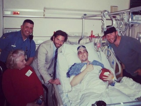 Bradley Cooper Visits Boston Bombing Victim