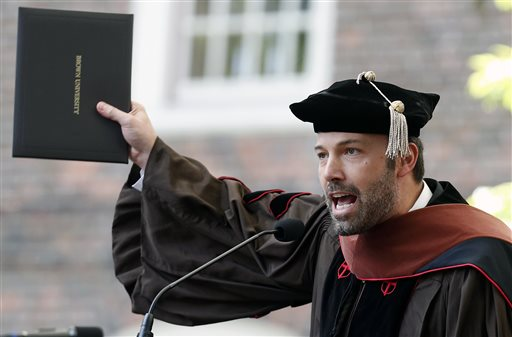 Ben Affleck Gets Honorary Doctorate from Brown University