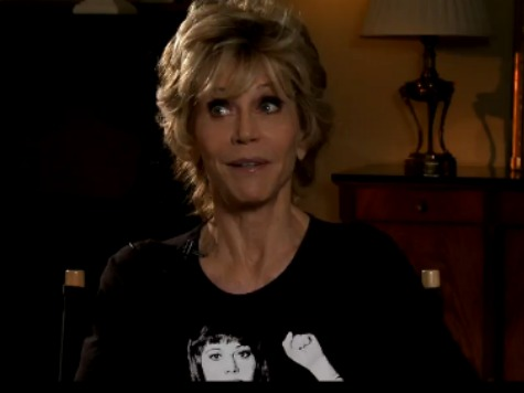 Jane Fonda Dons Hanoi Jane Shirt to Promote Her Turn as Nancy Reagan