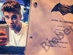 Justin Bieber Posts Photo of Him Holding 'Batman Vs. Superman' Script