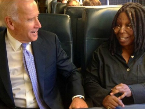VP Biden, Whoopi Goldberg Ride Amtrak Together