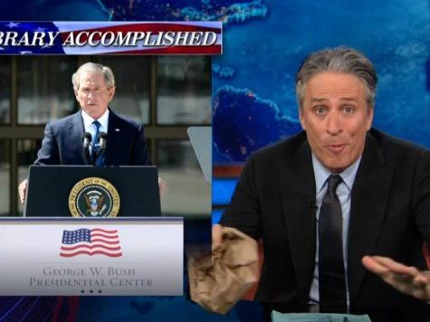 Jon Stewart Holds Bush-Bashing Flashback to Deflect from ObamaCare Debacle