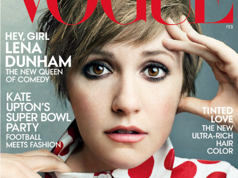 Vogue Fawns Over Cover Girl Lena Dunham, Ignores Low Ratings for 'Girls'