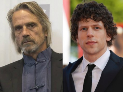 Jeremy Irons Cast as Alfred, Jesse Eisenberg as Lex Luthor in Batman-Superman Movie