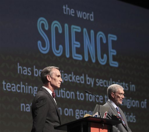 Bill Nye, Ken Ham Debate Evolution at Kentucky's Creation Museum