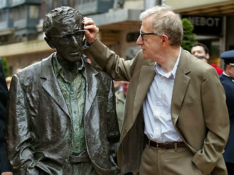 Woody Allen Spanish Statue Defaced, 'I am a Pedophile' Sign Hung on It