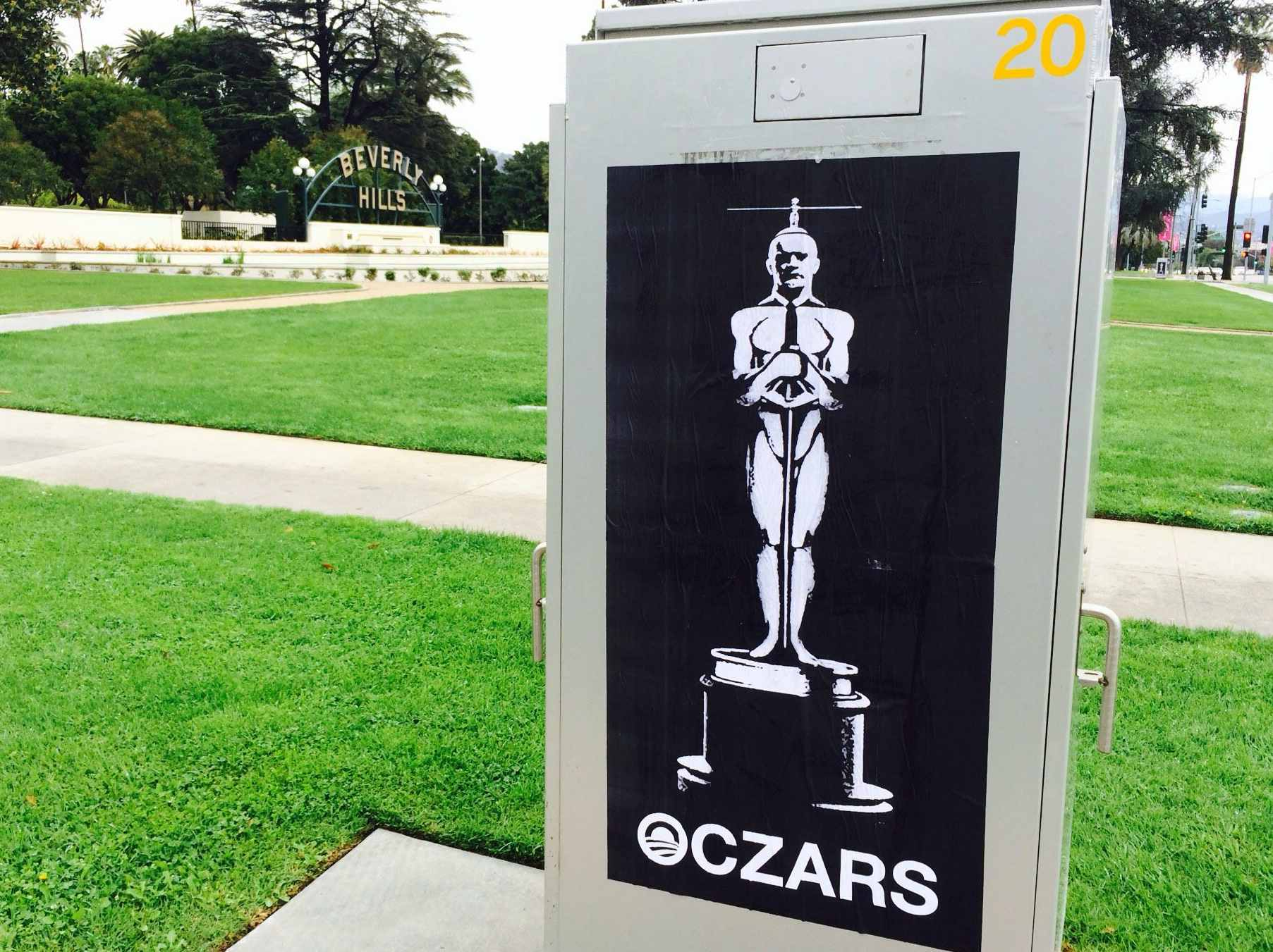 Anti-Obama Street Art Hits Oscars: 'Oczars'