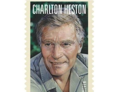 Charlton Heston Gets a Postage Stamp