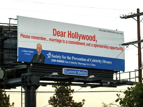 Billboards Targeting Brief Hollywood Marriages Hit L.A.
