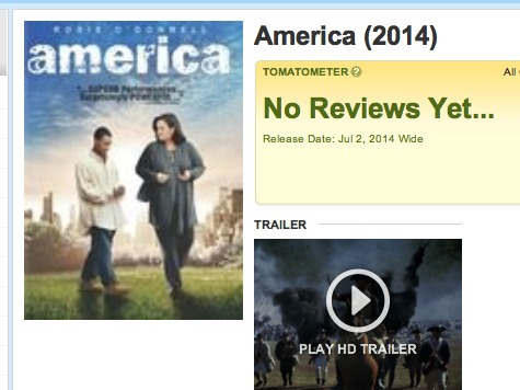 Major Movie Sites Botch 'America' Info, One Listed Rosie O'Donnell Movie Instead