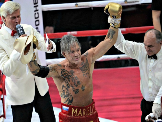 62 and Chiseled: Mickey Rourke Wins Comeback Bout in Russia