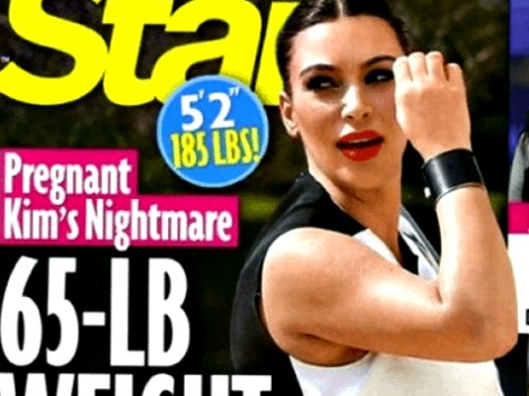 Kim Kardashian Blames God for Weight Gain
