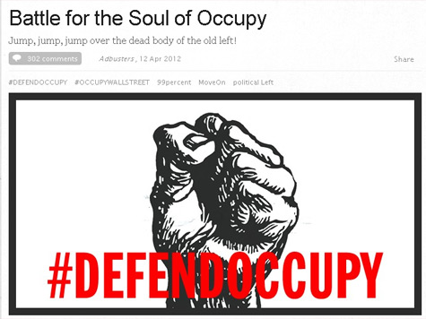 Adbusters Worries: Is the Professional Left Corrupting Occupy?