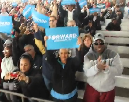 Media Faking Numbers for Obama; AP Reports Imaginary Crowd as 'Largest Yet of the Obama Campaign'