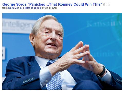 George Soros Panics About Romney Win, Mother Jones Scrubs Story