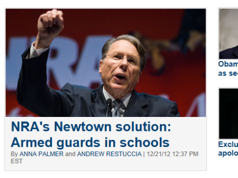 Politico Goes With a 'Hitler Photo' of NRA Chief