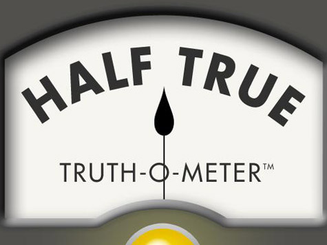Politifact Rates Accurate Figure from Romney Only Half True