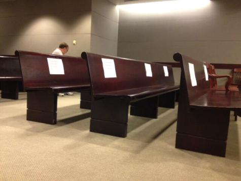 Photo: Empty 'Reserved Media Seating' at Abortion Doc Gosnell's Murder Trial