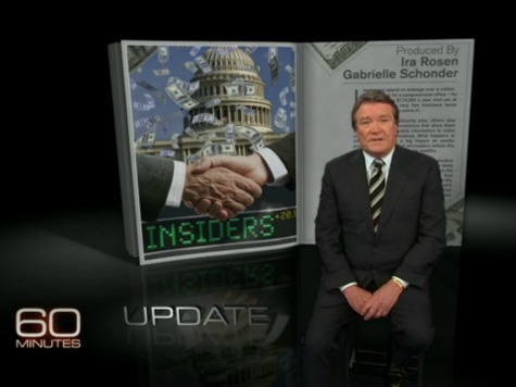60 Minutes STOCK Act Followup Sends Warning Signal to Congress