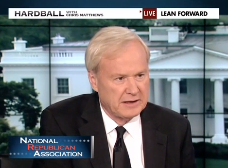 MSNBC's Chris Matthews Calls NRA/Beck 'Nazis,' Then Accuses Them of Calling People Nazis