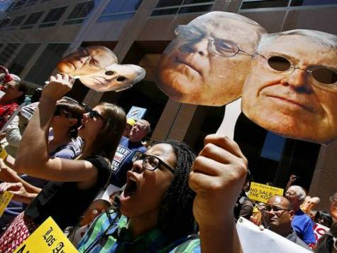 Beverly Hills Occupiers Protest Potential Sale of L.A. Times to Kochs