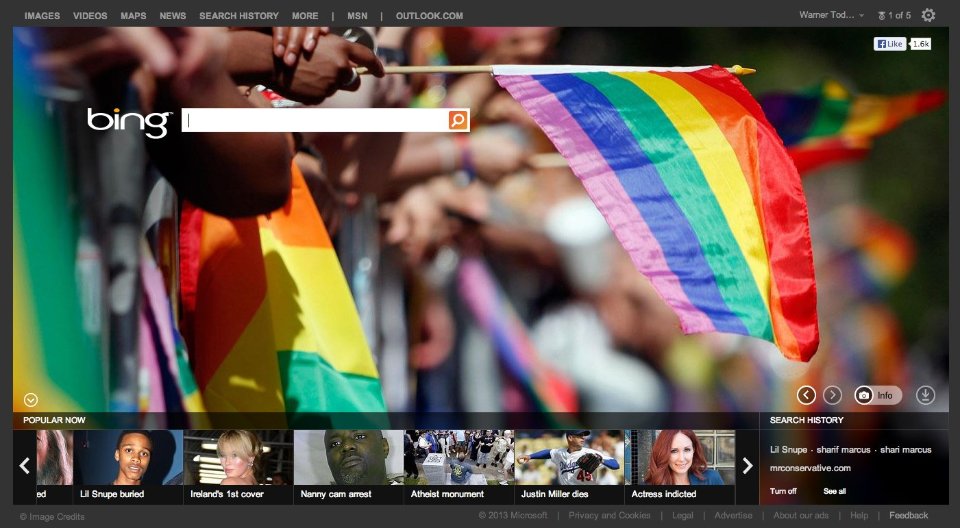 Search Engine Bing Highlights Gay Pride Parades