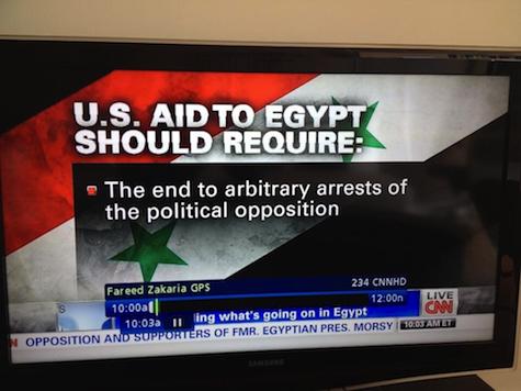 CNN Mistakes Syrian Flag for Egyptian Flag