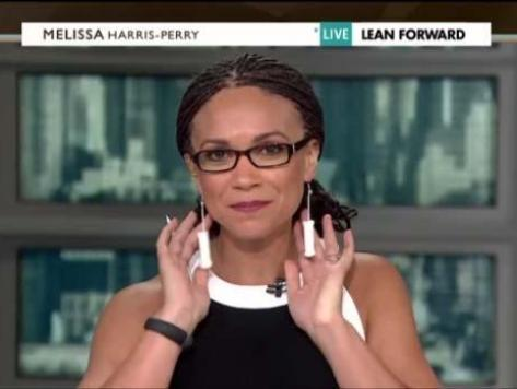 Melissa Harris Perry Protests Texas with Tampon Earrings