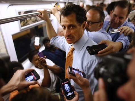 One More Dem Scandal Media Didn't Break: Weiner's Ongoing Sexting