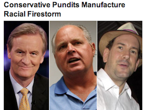 HuffPo: Drudge, Rush 'Manufacture Racial Firestorm' Over Lane Killing