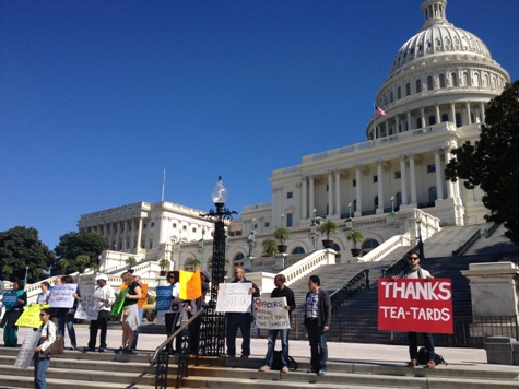 'Tea-Tards': OFA Shutdown Rally Draws Fewer than Two Dozen