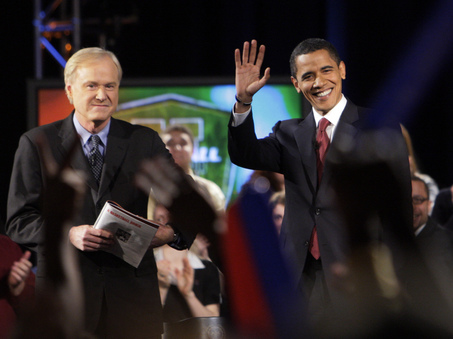 Date Night: Chris Matthews Tosses Softballs to Obama
