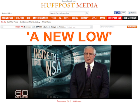 Left Hammers CBS For NSA 'Puff Piece'