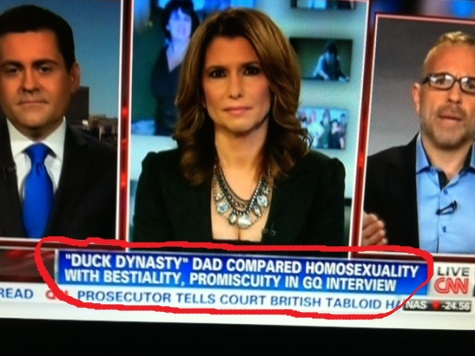 CNN Falsely Claims 'Duck Dynasty's' Roberts Compared Bestiality to Homosexuality