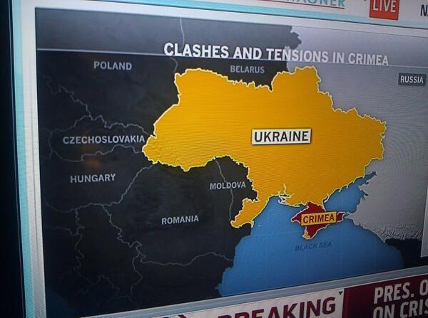 MSNBC Map of Ukraine Features 'Czechoslovakia'