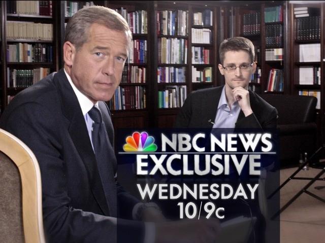 Brian Williams Lands Edward Snowden's First U.S. TV Interview