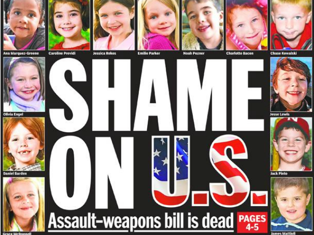NY Daily News Blamed America for Sandy Hook Just as for Santa Barbara