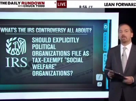 Chuck Todd's Nixonian Defense of the IRS