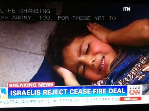 CNN Puts False News Of Israel Rejecting 'Cease-Fire Deal' Over Faces of Injured Children